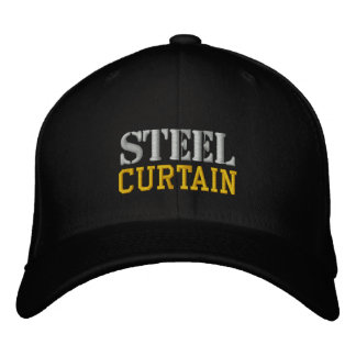 STEEL CURTAIN EMBROIDERED BASEBALL CAPS