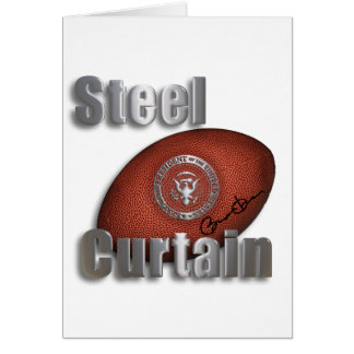 Steel Curtain Super Bowl Support, President Obama Card