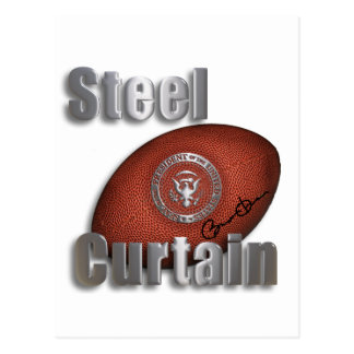Steel Curtain Super Bowl Support, President Obama Postcard