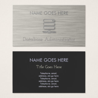 """""""Steel"""" Database Administrator Business Cards"""