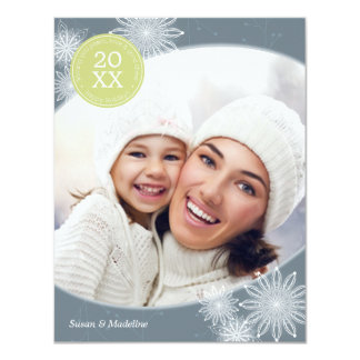Steel Delicate Snowflake Holiday Card