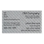 Steel Diamond Plate Background Double-Sided Standard Business Cards (Pack Of 100)
