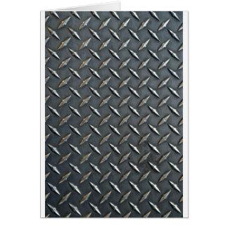 steel diamond plate card