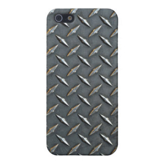 Steel diamond plate iPhone SE/5/5s cover
