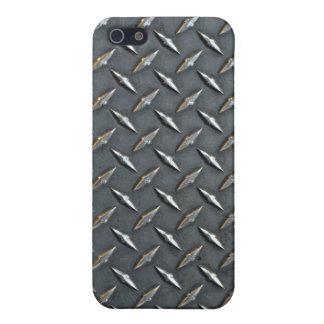 Steel diamond plate iPhone SE/5/5s cover