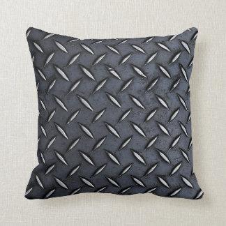Steel Diamond Plate Look pillow
