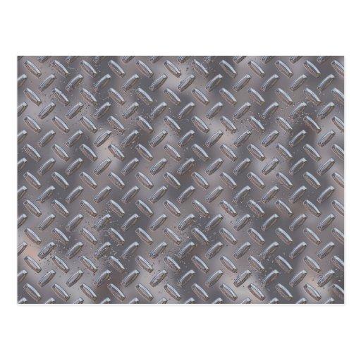 Steel Diamond Plate Post Card