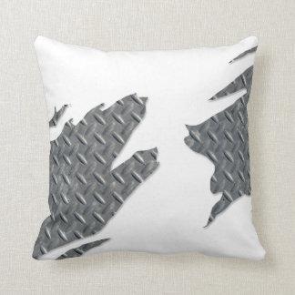 Steel Diamond Plate Rip Throw Pillows