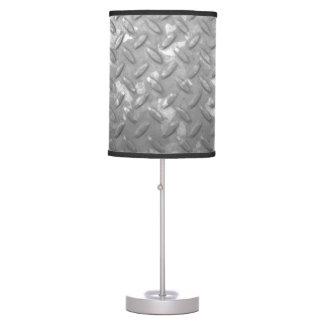 Steel diamond plate table lamp design