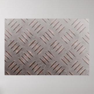 Steel Diamond Plate Texture Posters