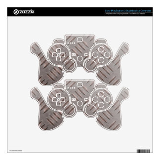 Steel Diamond Plate Texture PS3 Controller Decals