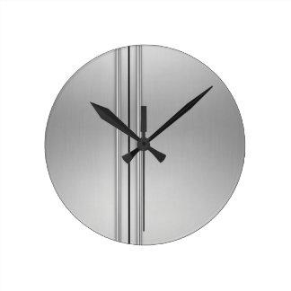 Steel Door Round Clock