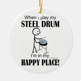 Steel Drum Happy Place Christmas Tree Ornament