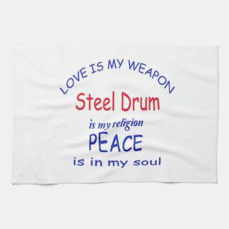 Steel Drum is my religion Hand Towel