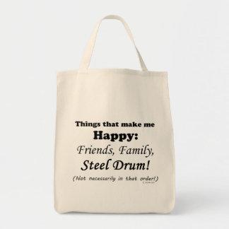 Steel Drum Makes Me Happy Tote Bag