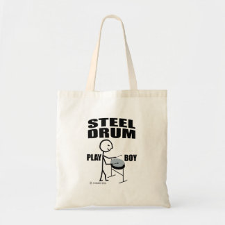 Steel Drum Play Boy Tote Bag