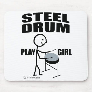 Steel Drum Play Girl Mouse Pad