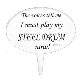 Steel Drum Voices Say Must Play Cake Topper