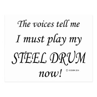 Steel Drum Voices Say Must Play Postcard