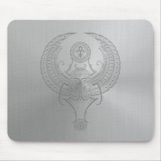 Steel Egyptian Winged Scarab Mouse Pad