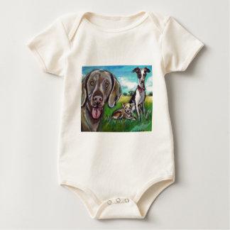 Steel, Fergie, & Rocket Baby Bodysuit