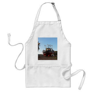 Steel Fishing Boat At Hastings Adult Apron