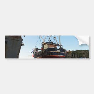 Steel Fishing Boat At Hastings Car Bumper Sticker