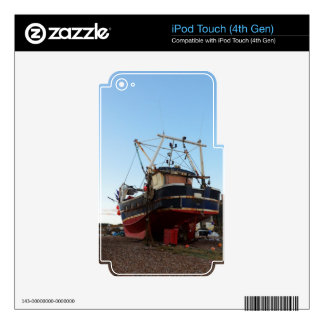 Steel Fishing Boat At Hastings iPod Touch 4G Decal