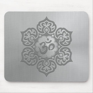 Steel Floral Ohm Design Mouse Pad
