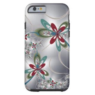 Steel Flowers Tough iPhone 6 Case