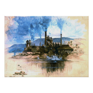 Steel Foundry 1881 Poster