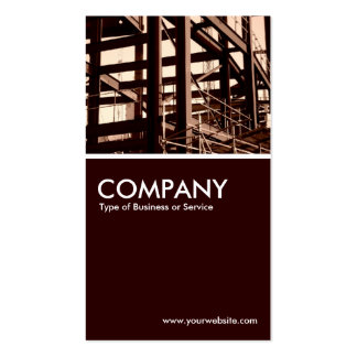 Steel Frame Construction Double-Sided Standard Business Cards (Pack Of 100)