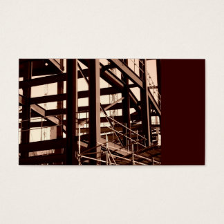 Steel Frame Construction, Mini Photo Business Card