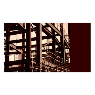 Steel Frame Construction, Mini Photo Business Card