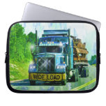 Steel Freight Truck Driver's Arty Laptop Sleeve