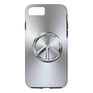 Steel Gradient Graphic Peace Symbol iPhone 7 Case