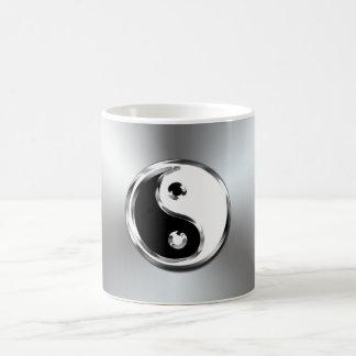 Steel Gradient Graphic Yin-Yang Symbol Mugs