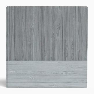 Steel Gray Bamboo Border Wood Grain Look 3 Ring Binder