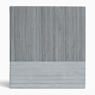 Steel Gray Bamboo Border Wood Grain Look Binder