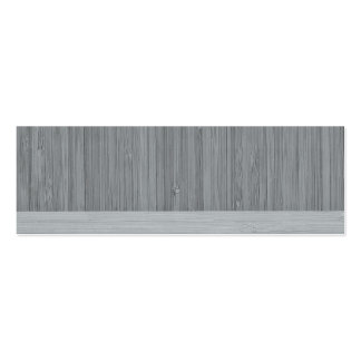 Steel Gray Bamboo Border Wood Grain Look Double-Sided Mini Business Cards (Pack Of 20)