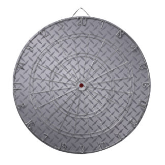 Steel Gray Diamond Plate Dartboard With Darts