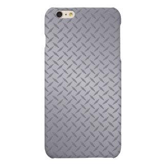 Steel Gray Diamond Plate Matte iPhone 6 Plus Case