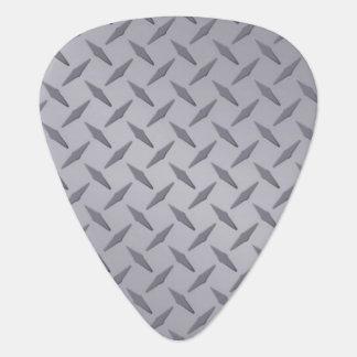 Steel Gray Diamondplate Look Guitar Picks