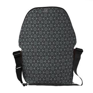Steel Gray Geometric flower Pattern Messenger Bag