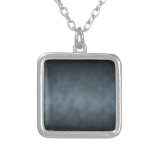 Steel Gray Gothic Ombre Background Art Silver Plated Necklace
