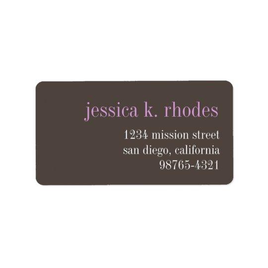 Steel gray lilac typography modern return address label