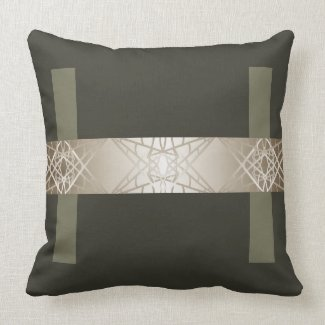 Steel Grey Designer Trendy Contemporary Decor Throw Pillow