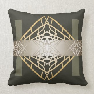 Steel Grey Designer Trendy Contemporary Geometric Throw Pillow