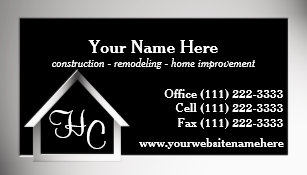 Steel Grey House Construction Business Card