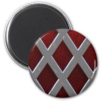 Steel Grid Over Lava Magnet